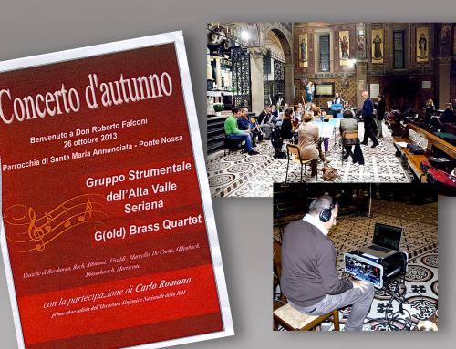 """26 ottobre 2013: Concerto del """"Gruppo Strumentale dell'Alta Valle Seriana"""" e del G(old) Brass Quartet"""