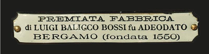 Cartiglio Organo Luigi Balicco Bossi 1801 Colzate