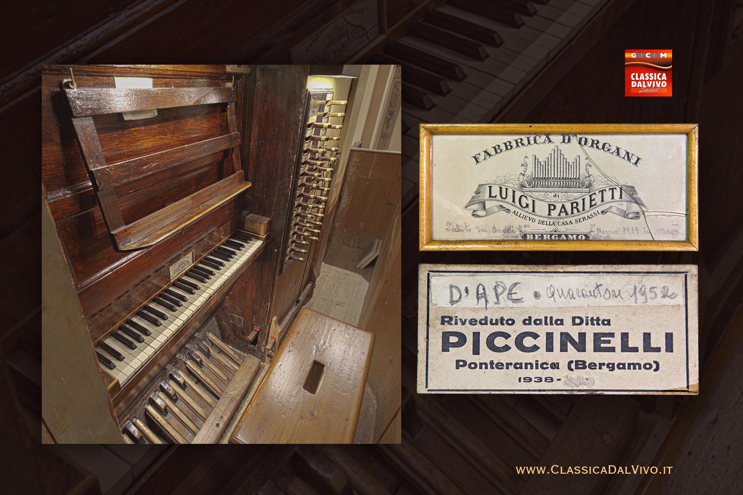 Organo Luigi Parietti 1880 di Mezzoldo Bergamo