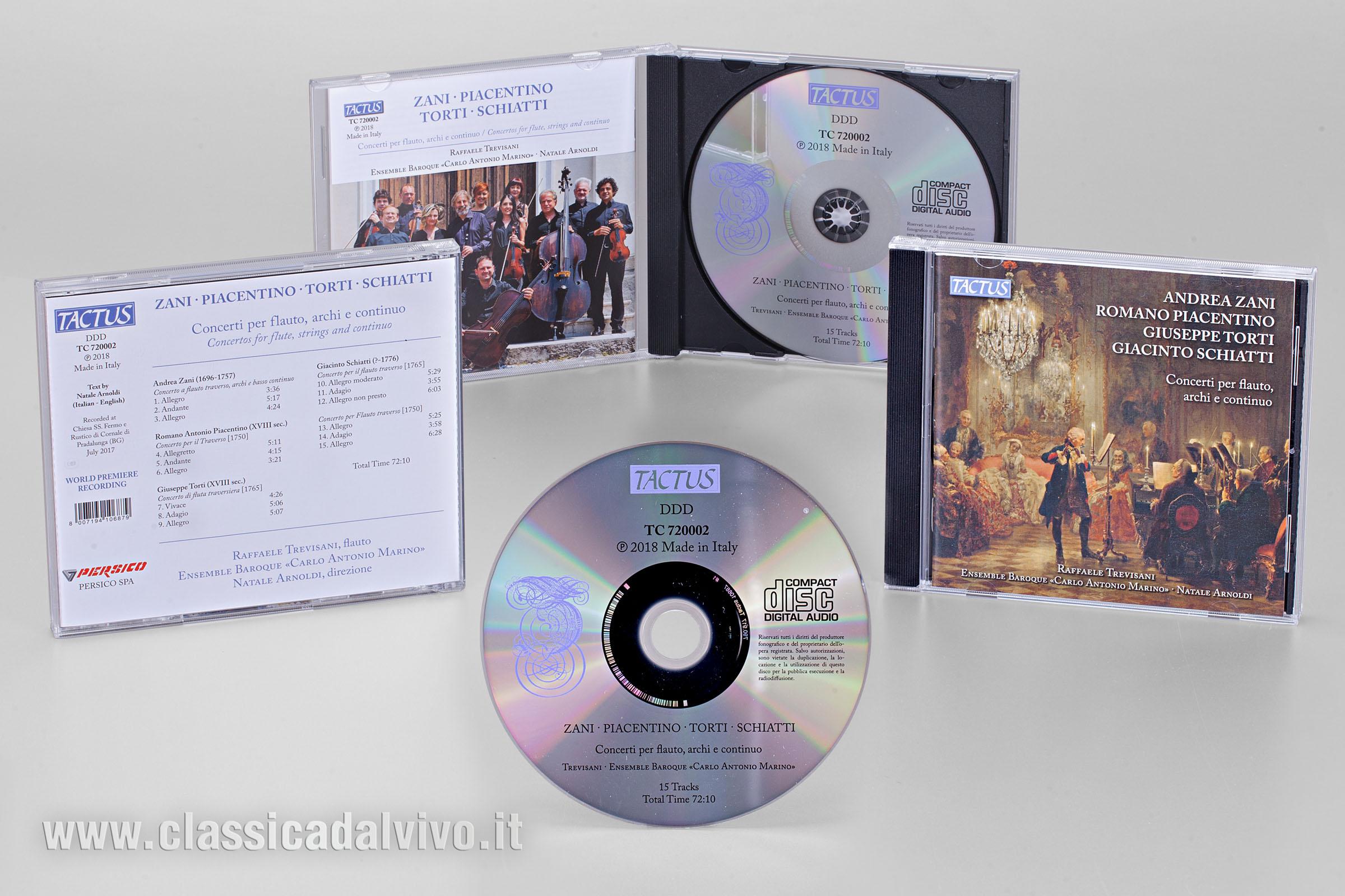 Ensemble Carlo Antonio Marino - Raffaele Trevisani - TACTUS
