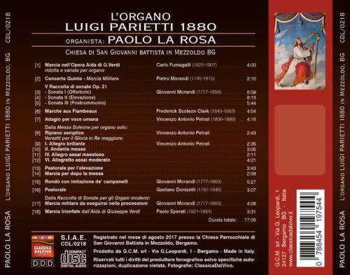 Organo Luigi Parietti Mezzoldo - Paolo La Rosa