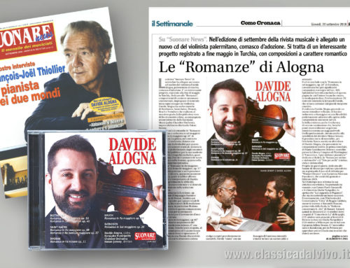 La Provincia di Como – 20 settembre 2018 – Davide Alogna, Suonare NEWS
