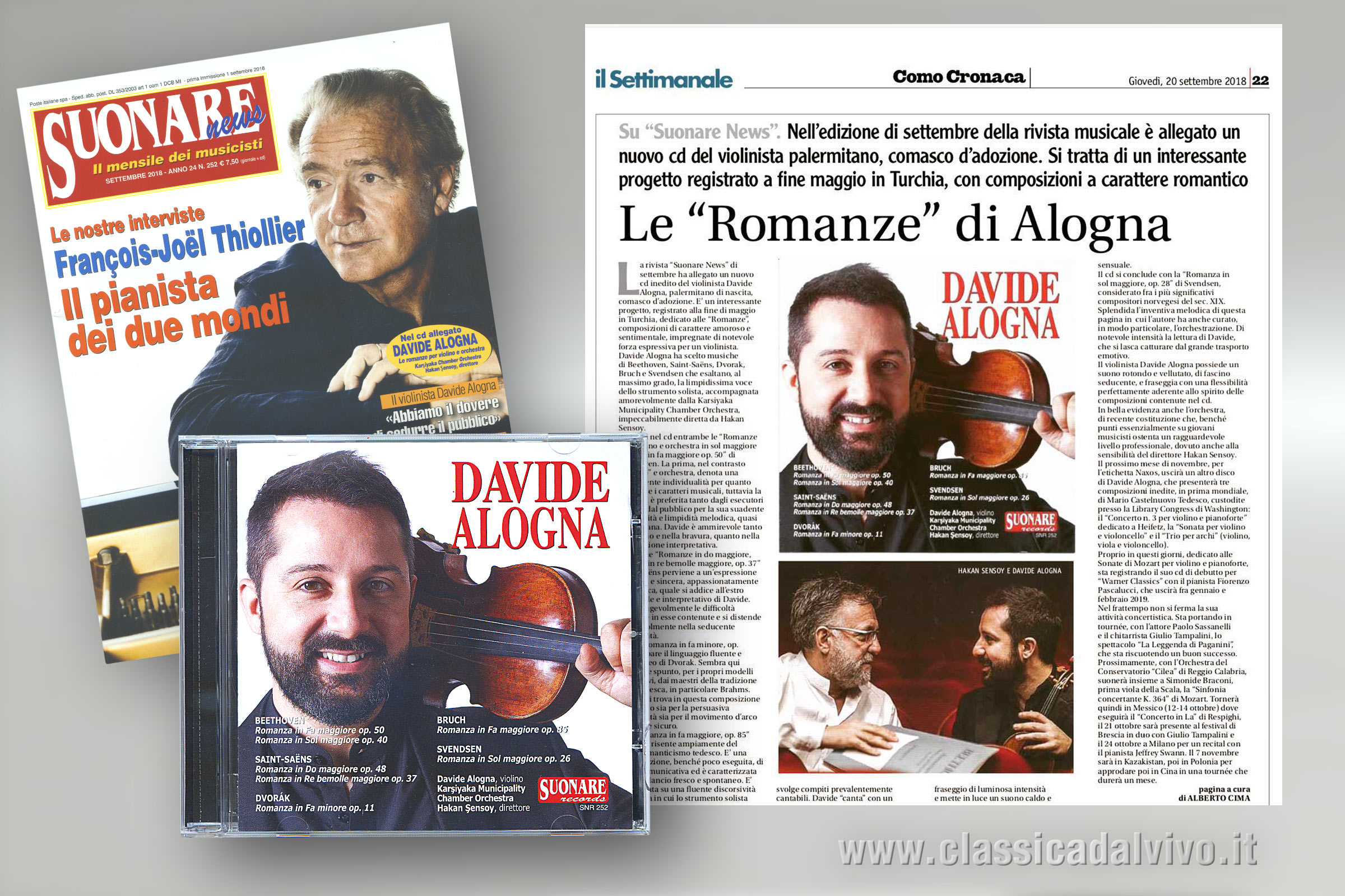 Davide Alogna - Hakan Sensoy - CD per Suonare News