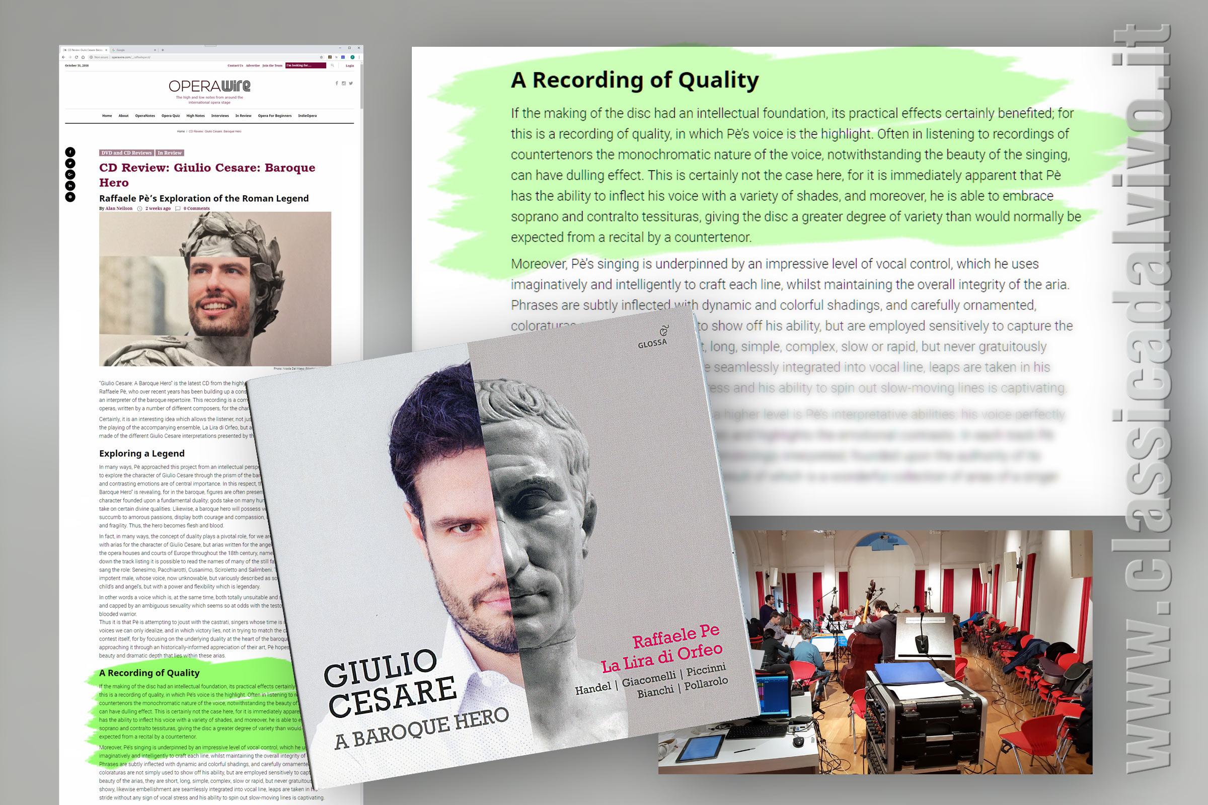 Raffaele Pe' - Giulio Cesare - Recensione OperaWire