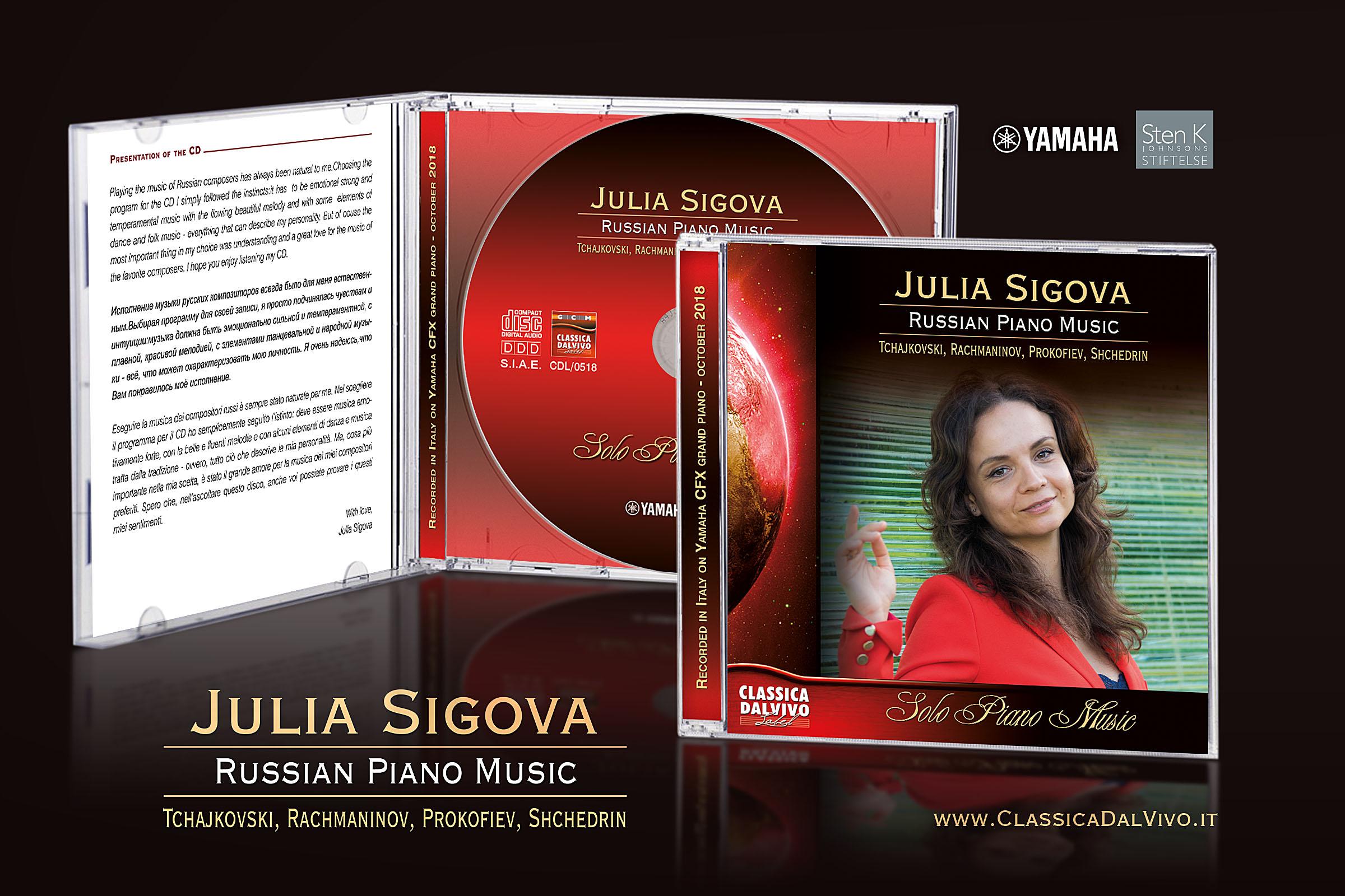 ClassicaDalVivo - Julia Sigova, Russian Piano Music