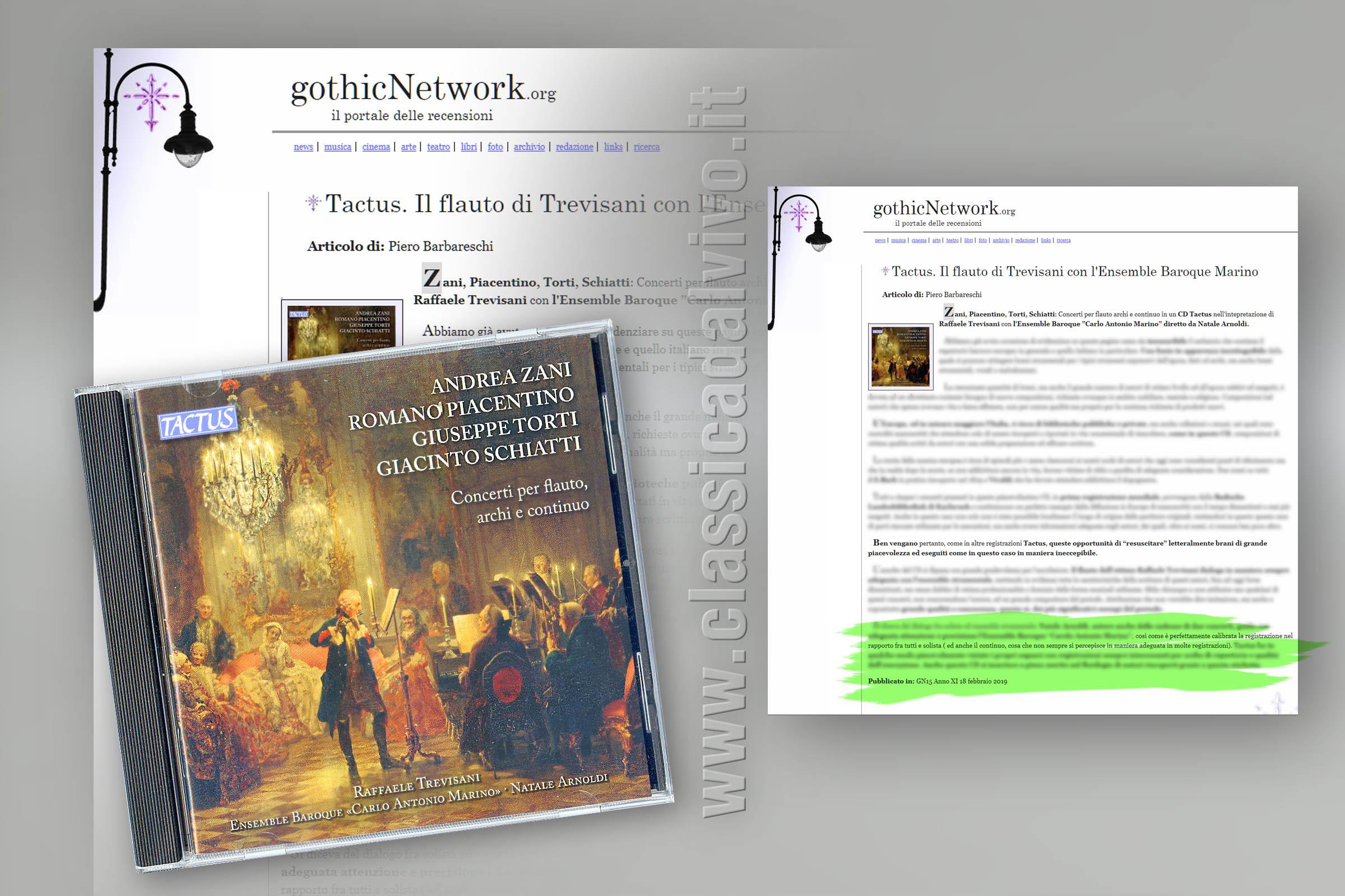Trevisani ArmoldiEnsemble Carlo Antonio Marino Concerti per flauto archi e continuo GothicNetwork