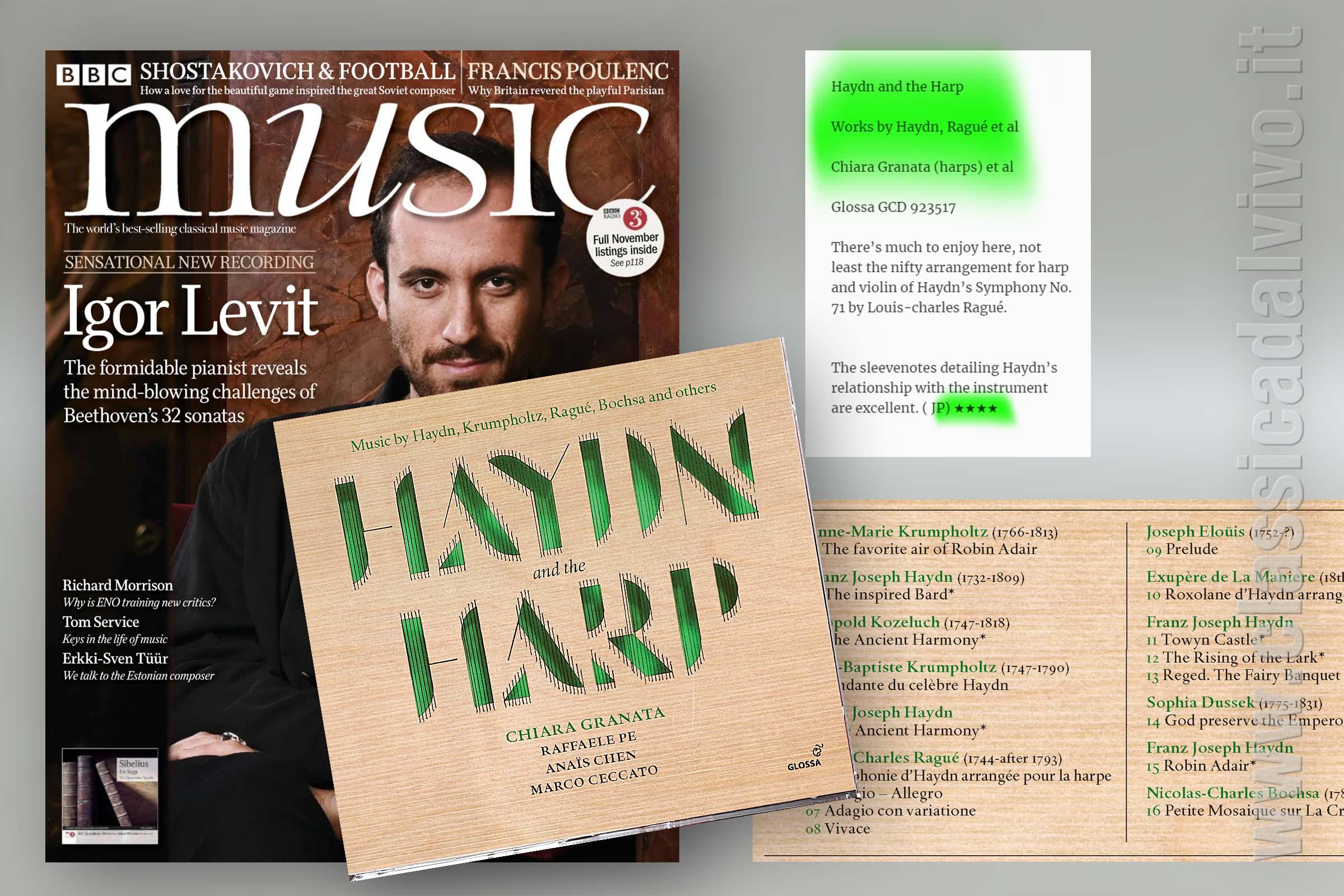 Recensione Chiara Granata - Haydn and the harp - Glossa Music