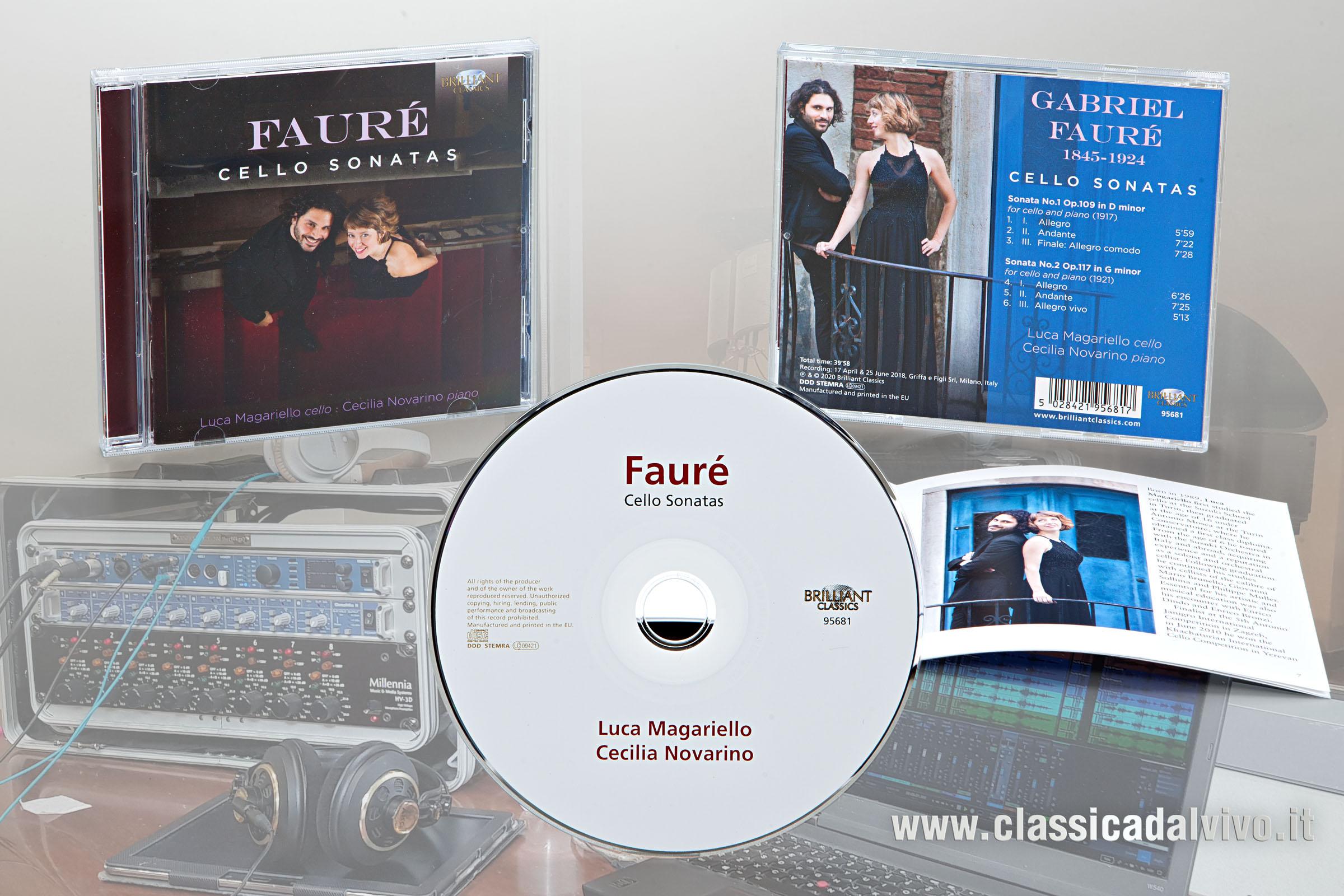 Brilliant Luca Magariello Cecilia Novarino Faure Cello Sonatas