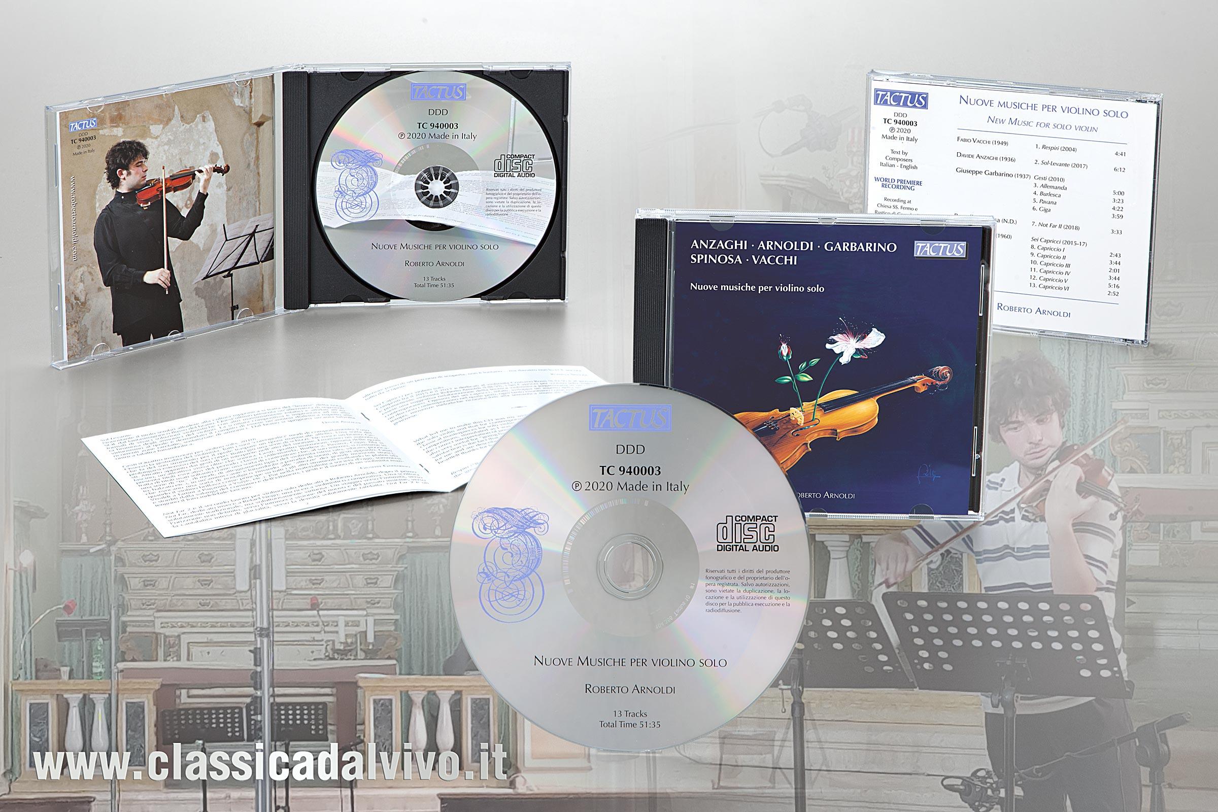 Roberto Arnoldi - Nuove musiche per violino solo - Tactus 2020