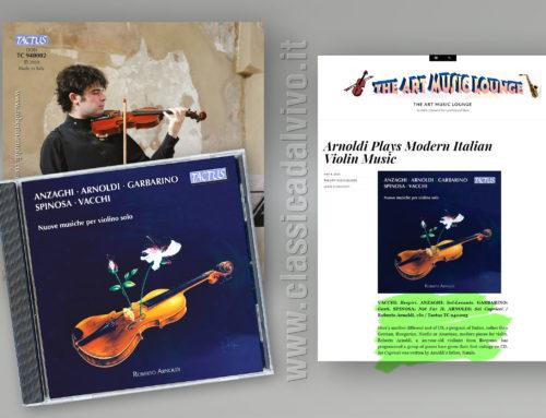 The Art Music Lounge – Roberto Arnoldi – Nuove musiche per violino solo