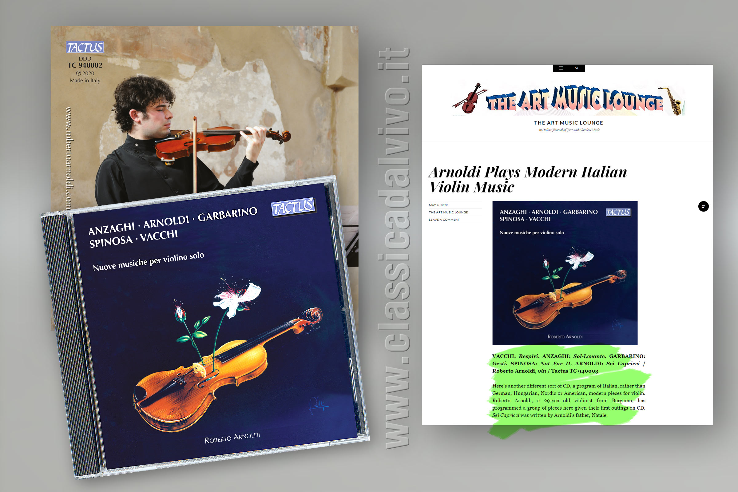 Roberto Arnoldi - Nuove musiche per violio solo - The Art Music Lounge